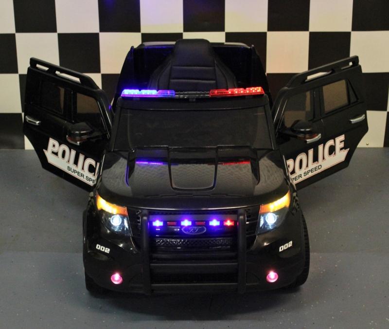 Elektrische kinder jeep Politie 12 volt politie kinderjeep